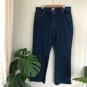 Woman Within Tall plus size straight leg jeans